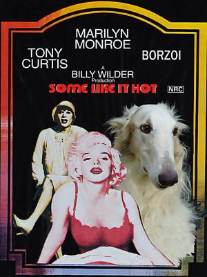 Borzoi Painting - Borzoi Art - Some Like It Hot Movie Poster by Sandra Sij