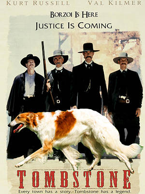 Borzoi Art - Tombstone Movie Poster Art Print