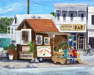 Painting - B.o.'s Fish Wagon by Linda Cabrera