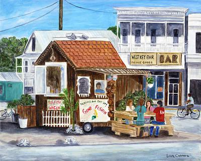 Painting - B.o.'s Fish Wagon by Linda Cabrera