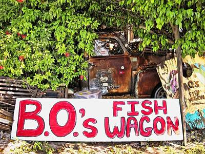 Photograph - B.o.'s Fish Wagon by Peggy Hughes