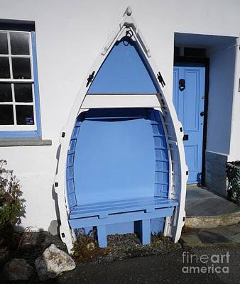 Photograph - Boscastle Blue Bench by Richard Brookes