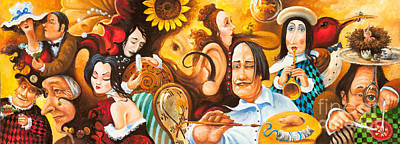 Painting - Bosch's Jingles Dali's Moustache And Ear Of Vangough Make Me Restless by Igor Postash