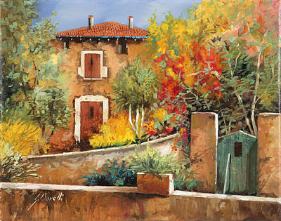Village Painting - Bosco Giallo by Guido Borelli