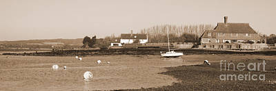 Photograph - Bosham Harbour And South Downs In Sepia by Terri Waters