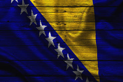 Flag Pole Photograph - Bosnia by Joe Hamilton