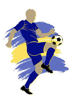 Bosnia Soccer Player Art Print by Joe Hamilton