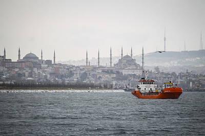 Turkey Photograph - Bosphorus Haze by Suzanne Morris