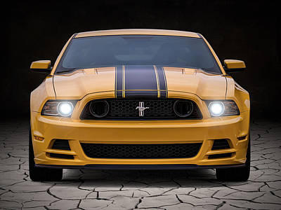 Automotive Digital Art - Boss 302 by Douglas Pittman
