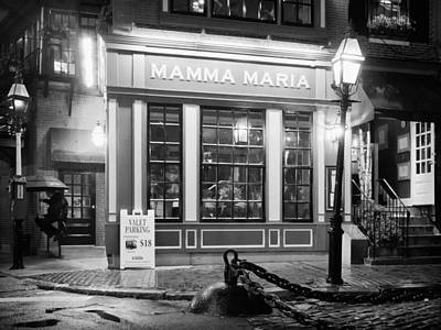 Street Photograph - Boston - Mamma Maria Restaurant by Alexander Voss