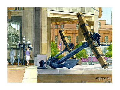 Boston Anchors Art Print