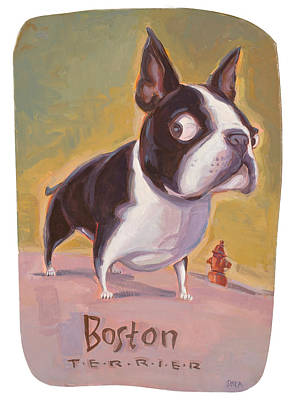 Boston Painting - Boston And The Hydrant by Shawn Shea