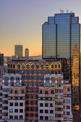 Photograph - Boston Architecture Reflections by Joann Vitali