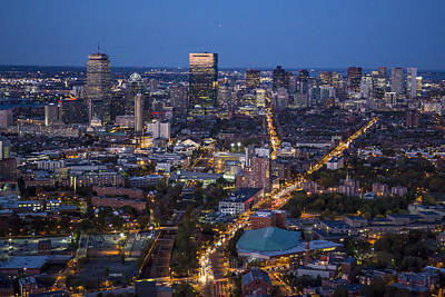 Photograph - Boston At Night From The Sw. by Dave Cleaveland