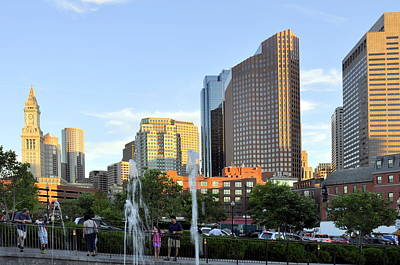 Photograph - Boston At Sunset by Caroline Stella