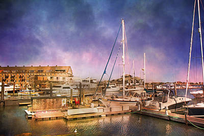 Transportation Royalty-Free and Rights-Managed Images - Boston Birch Marina by Betsy Knapp