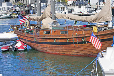 Brown Color Photograph - Boston Boat by Betsy Knapp