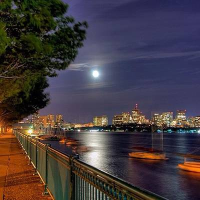 Cityscape Photograph - #boston #bostonskyline #bostonnights by Joann Vitali