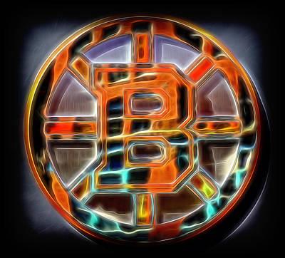 Boston Bruins Logo Art Print