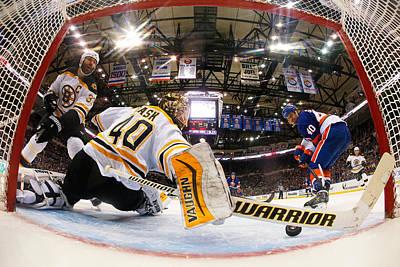Photograph - Boston Bruins V New York Islanders by Mike Stobe