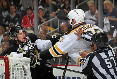 Photograph - Boston Bruins V Pittsburgh Penguins - by Bruce Bennett