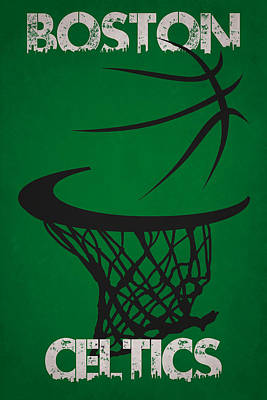 Boston Celtics Hoop Art Print by Joe Hamilton