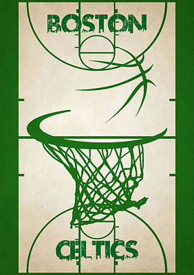 Boston Celtics Court Art Print by Joe Hamilton