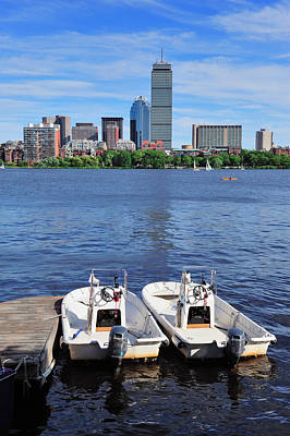 Photograph - Boston Charles River by Songquan Deng