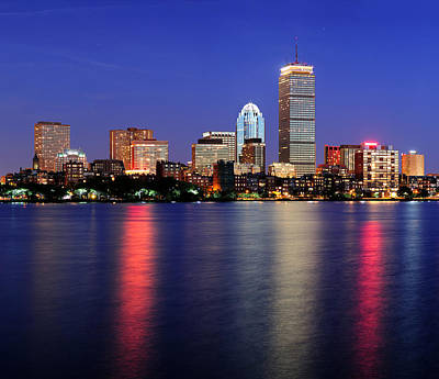 Photograph - Boston City Skyline At Dusk by Songquan Deng
