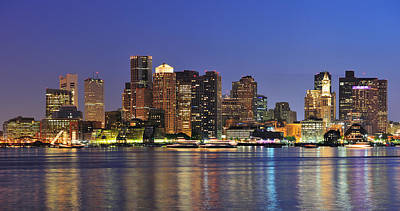 Photograph - Boston City by Songquan Deng