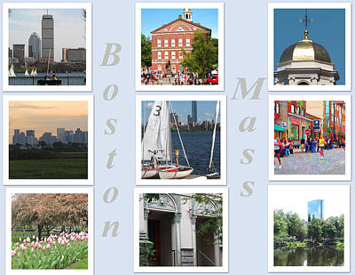 Hancock Building Digital Art - Boston Collage by Barbara McDevitt