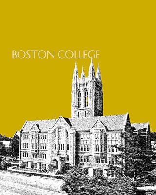 Architecture Digital Art - Boston College - Gold by DB Artist