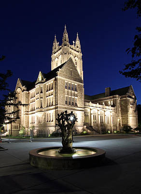 Chestnut Photograph - Boston College Gasson Hall by Juergen Roth