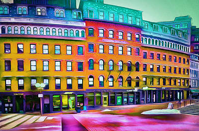 Busy Digital Art - Boston Colors 1 by Yury Malkov