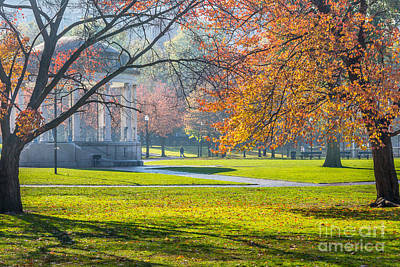 Photograph - Boston Common Autumn Morn by Susan Cole Kelly