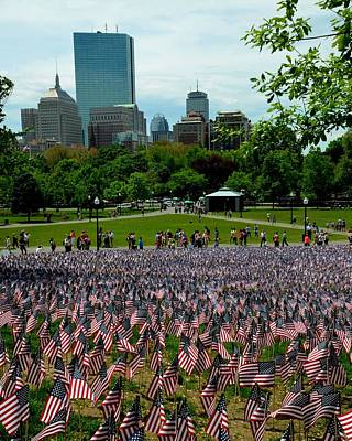 Photograph - Boston Common Memorial Day by Toby McGuire