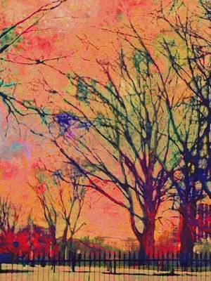 Painting - Boston Commons In Tangerine - Vertical by Lyn Voytershark
