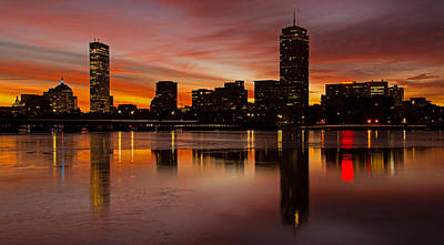 Boston Dawn Art Print by Ken Stampfer