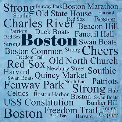 Red Soxs Photograph - Boston by Denyse and Laura Design Studio