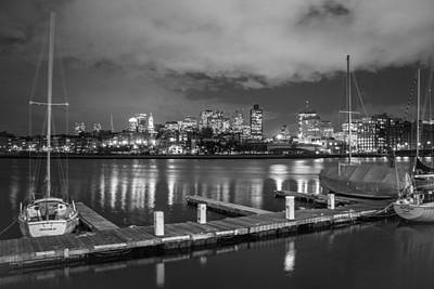 Photograph - Boston Dock And Skyline by John McGraw