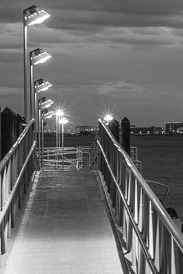 Photograph - Boston Dock In Black And White by John McGraw