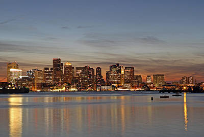 Boston Downtown Print by Juergen Roth