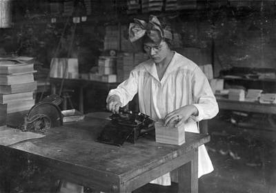 Photograph - Boston Factory, 1917 by Granger