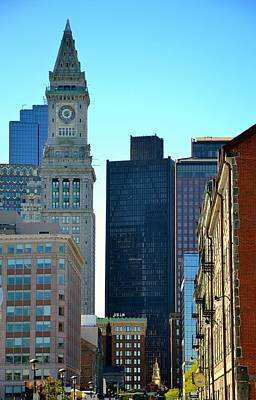 Photograph - Boston Financial District by Corinne Rhode
