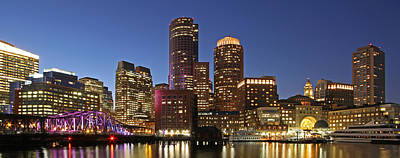 Boston Skyline Panoramic Photograph - Boston Financial District Panoramic Photography by Juergen Roth
