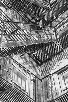 Photograph - Boston Fire Escape by John McGraw