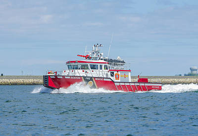 Photograph - Boston Fire Marine 1 by Brian MacLean