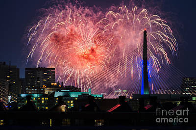 Boston Fireworks 1 Art Print