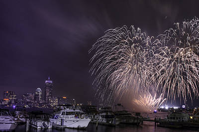 Photograph - Boston  Fireworks  by Ludmila Nayvelt