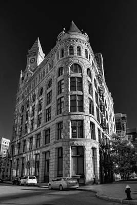 Photograph - Boston Flour And Grain Exchange Bw by Joann Vitali